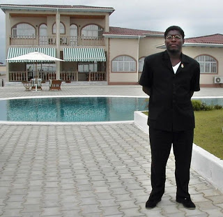 Teodorin Obiang, the second VP of EquEquatorial Guinea and son to the President, owns this beachfront mansion in his country's town of Bata.  Image from foreignpolicy.com